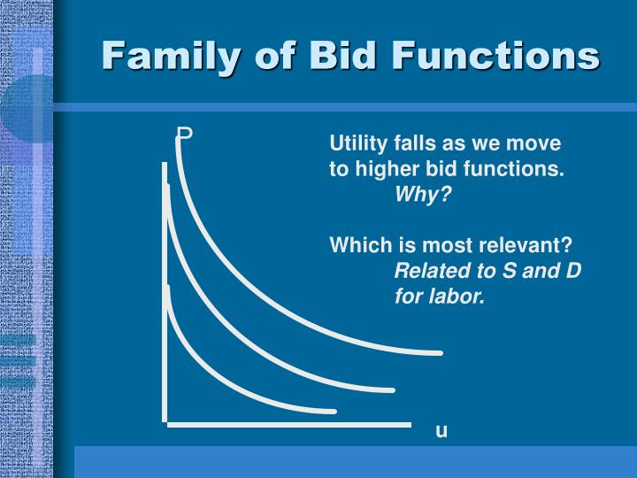 Family of Bid Functions
