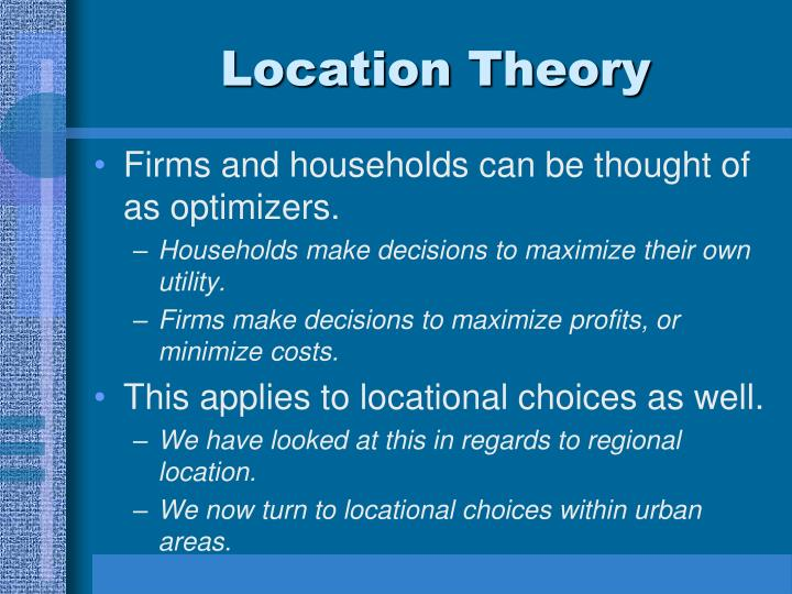 Location Theory