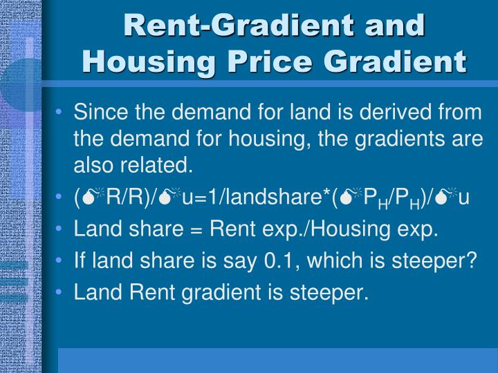 Rent-Gradient and Housing Price Gradient