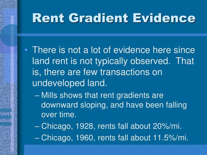 Rent Gradient Evidence