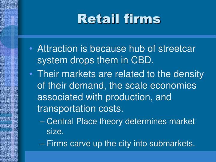 Retail firms