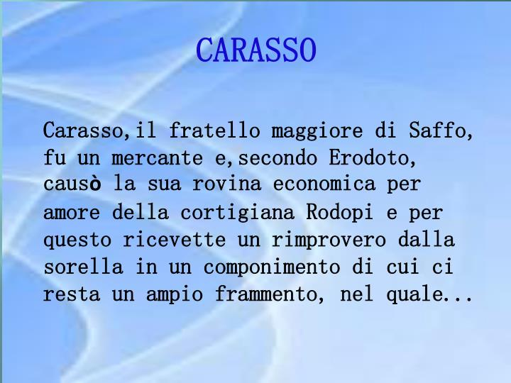 CARASSO