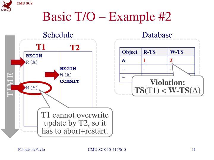 Basic T/O – Example #2