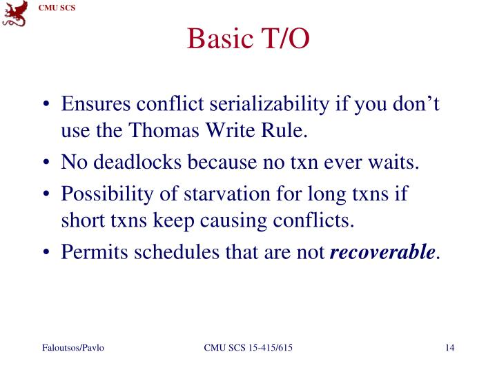Basic T/O