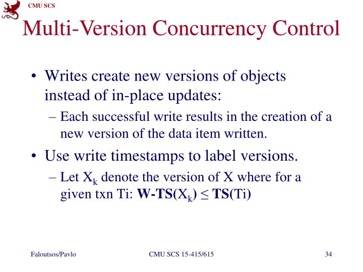 Multi-Version Concurrency Control