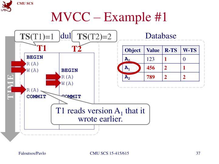 MVCC – Example #1