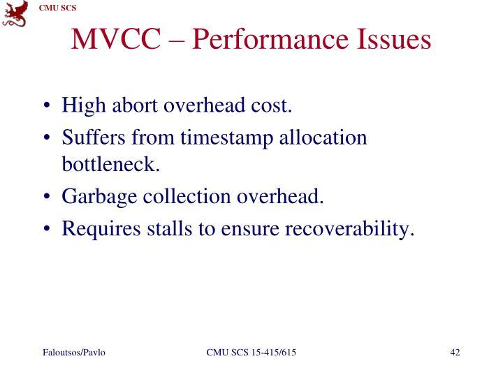 MVCC – Performance Issues