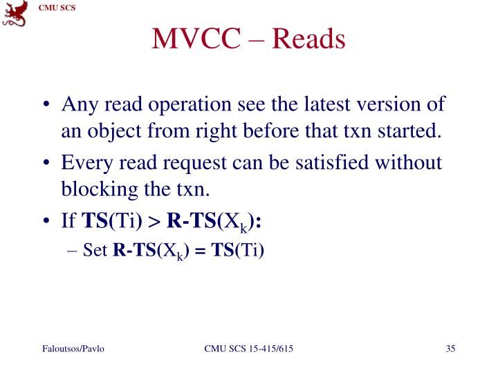 MVCC – Reads