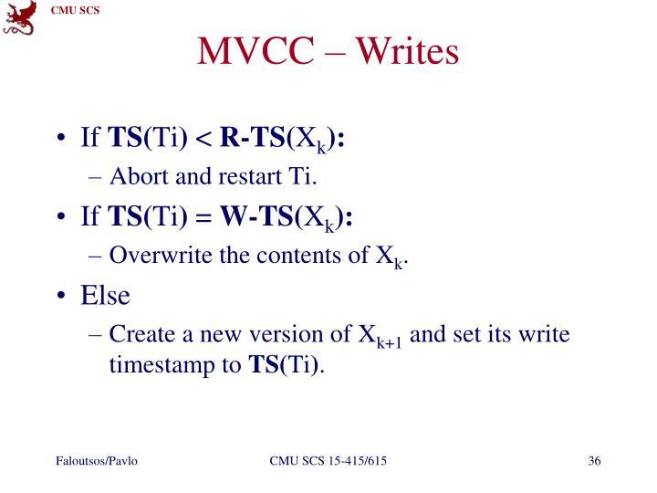 MVCC – Writes