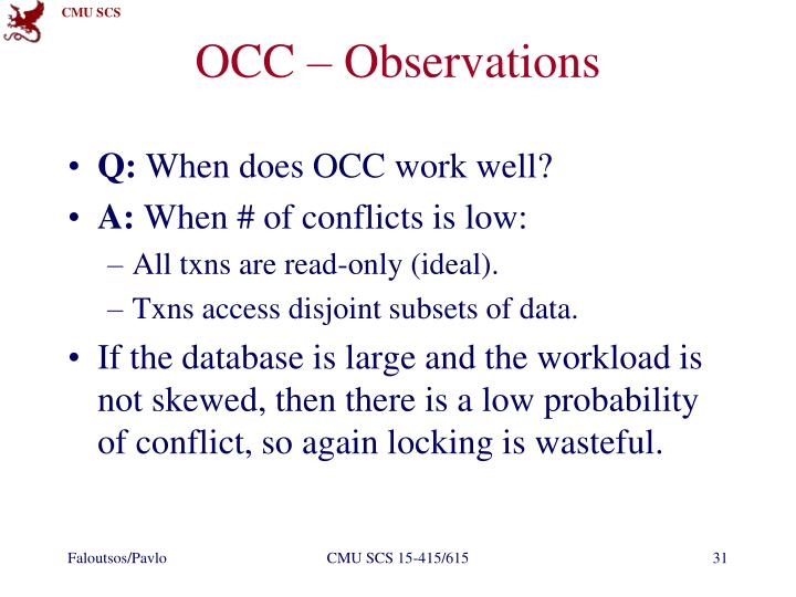 OCC – Observations