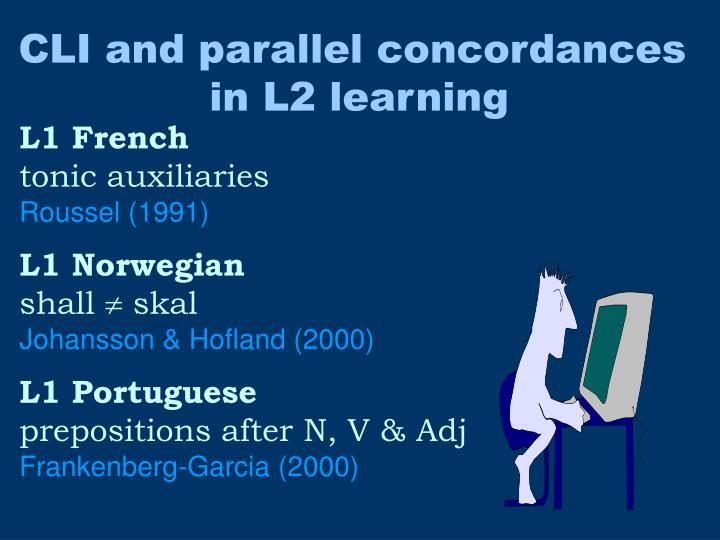 CLI and parallel concordances
