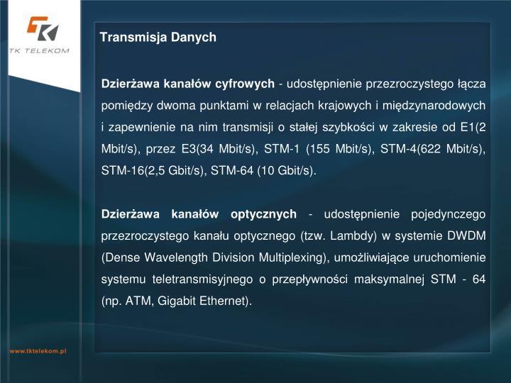 Transmisja Danych