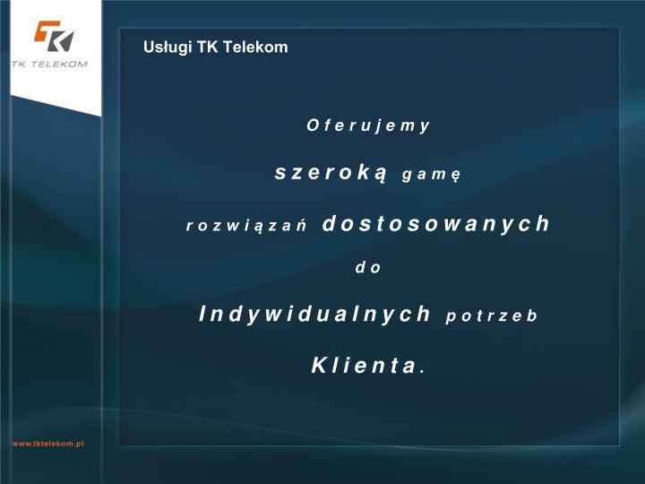 Usługi TK Telekom