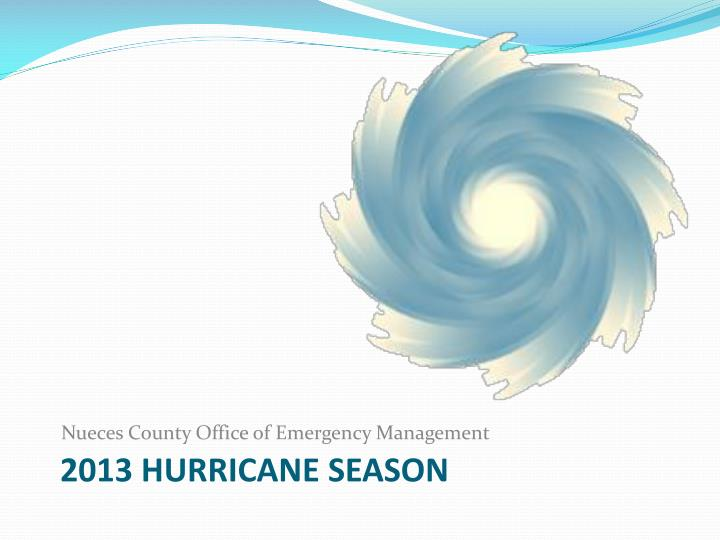 2013 Hurricane Season