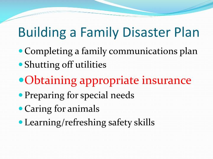 Building a Family Disaster Plan