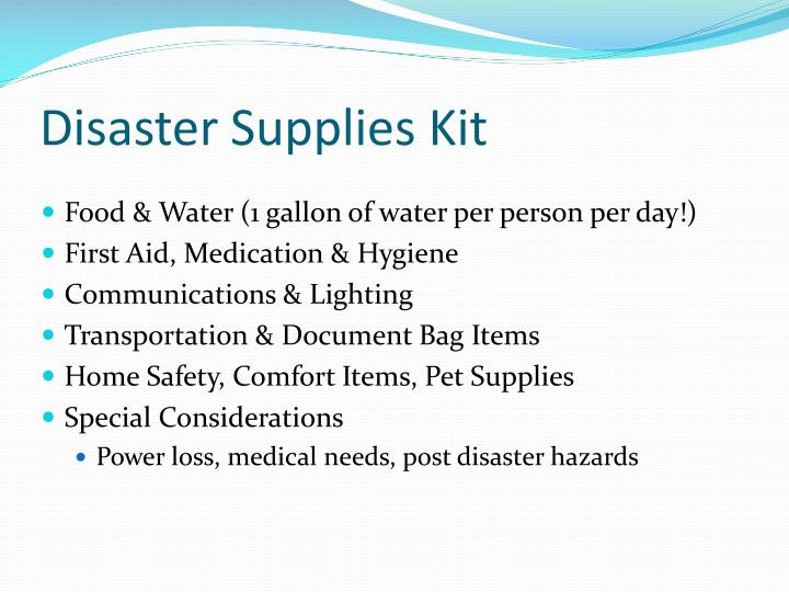 Disaster Supplies Kit