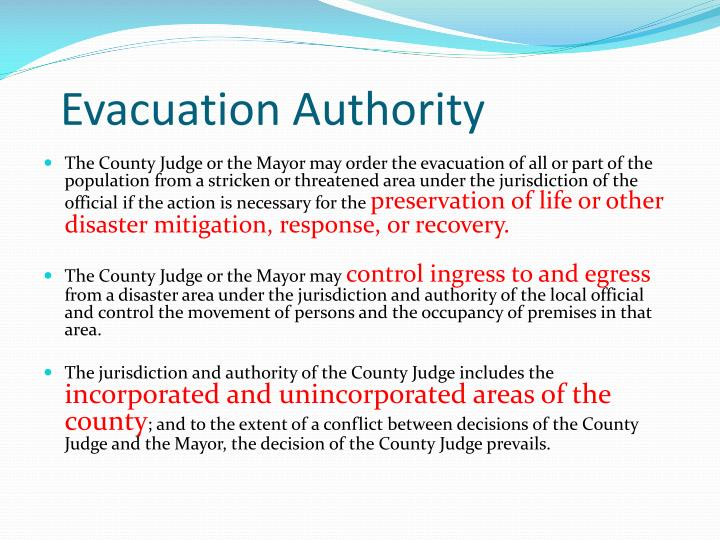Evacuation Authority