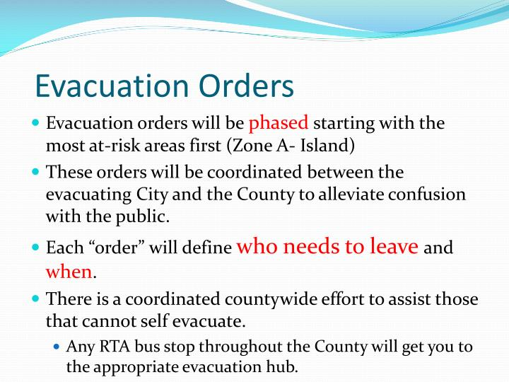 Evacuation Orders
