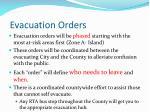 evacuation orders