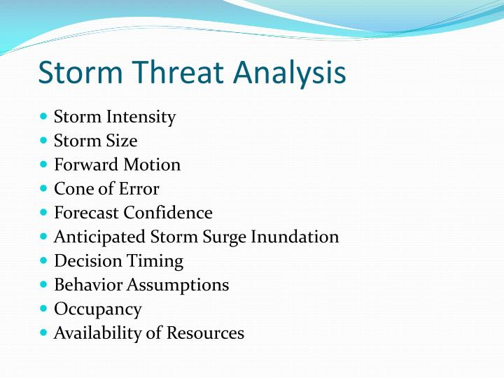 Storm Threat Analysis