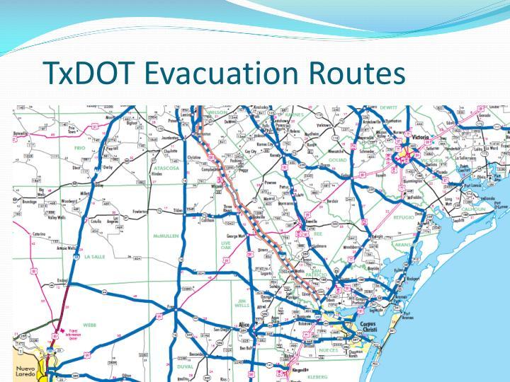 TxDOT Evacuation Routes