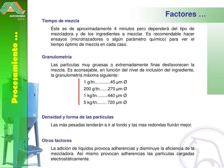 Factores …