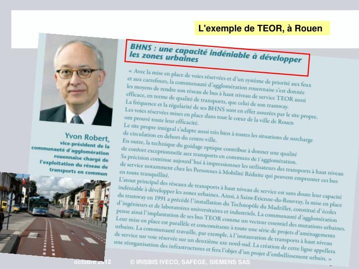 L'exemple de TEOR,  Rouen