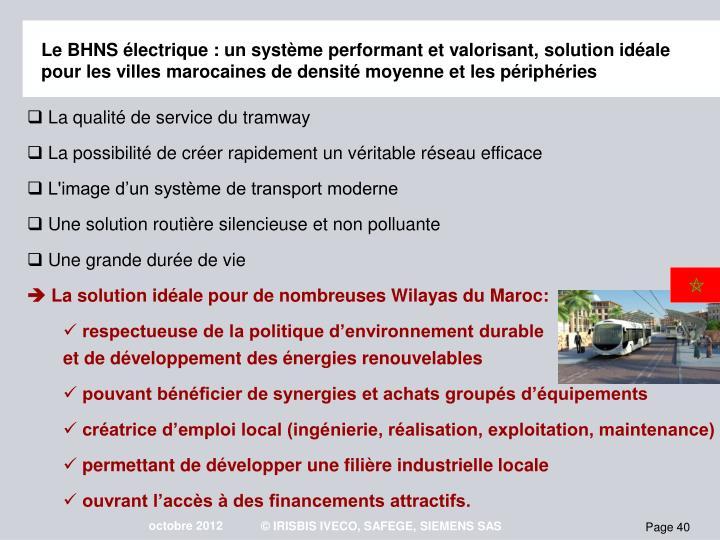 Le BHNS lectrique : un systme performant et valorisant, solution idale pour les villes marocaines de densit moyenne et les priphries