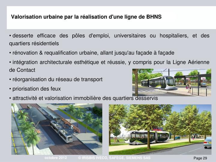 Valorisation urbaine par la ralisation d'une ligne de BHNS