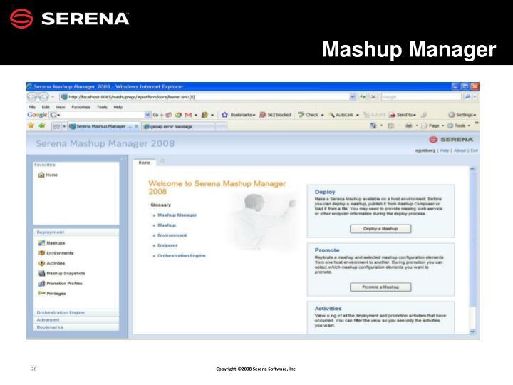 Mashup Manager