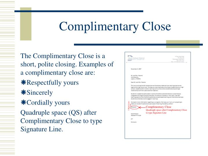 Complimentary Close