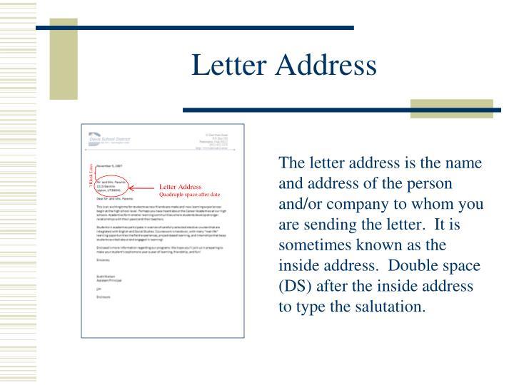 Letter Address