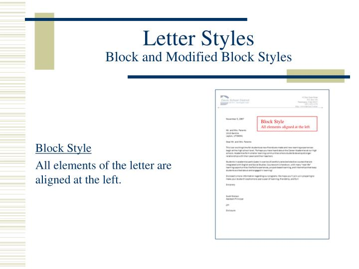 Letter Styles