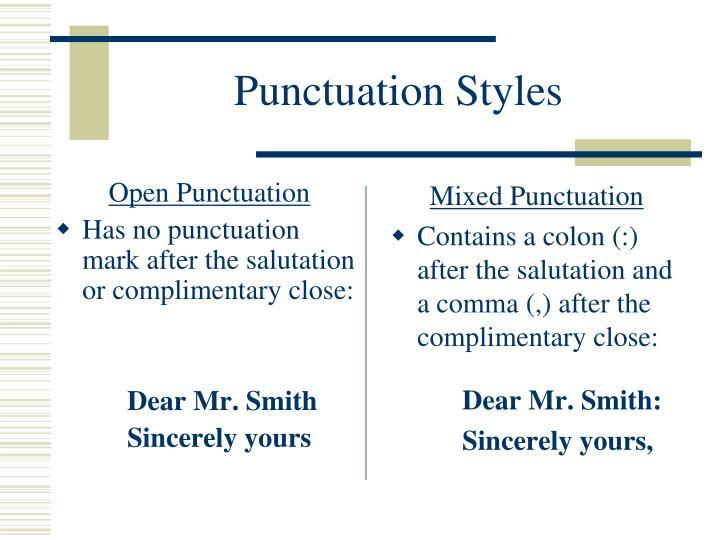 Open Punctuation
