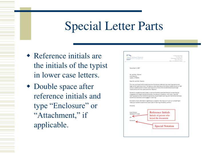 Special Letter Parts