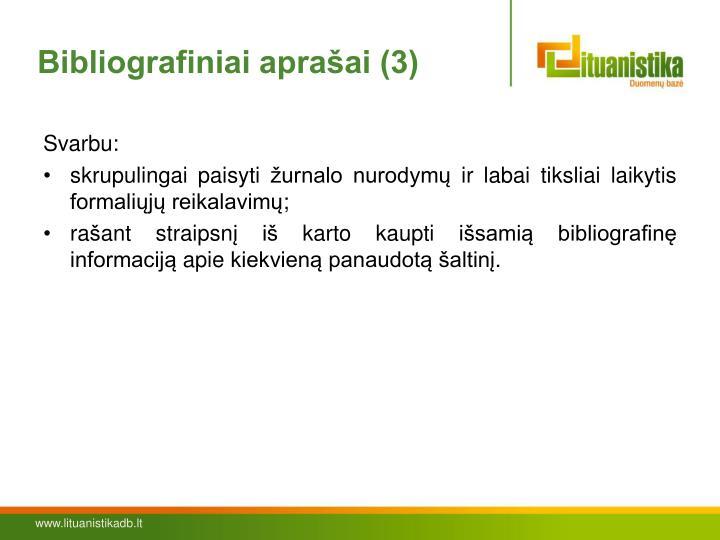 Bibliografiniai aprašai (3)
