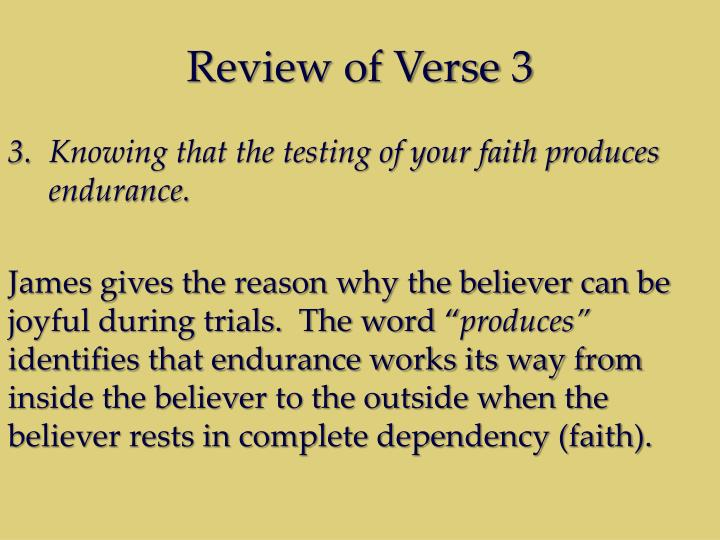 Review of Verse 3