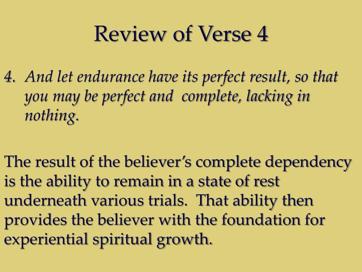 Review of Verse 4