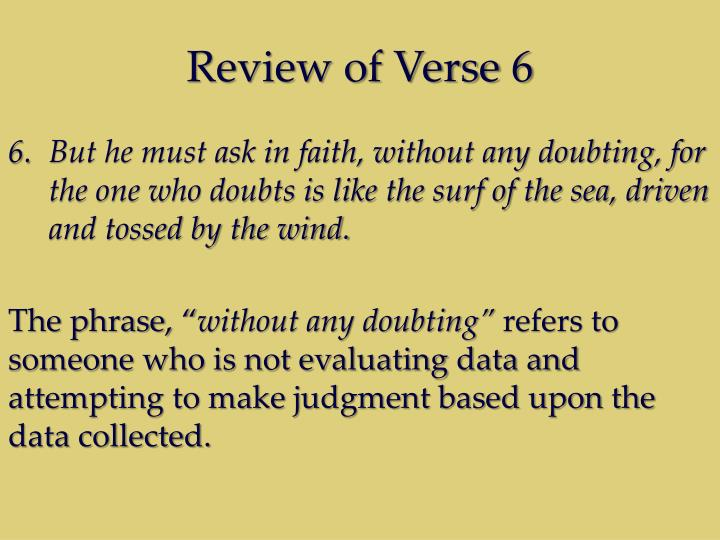 Review of Verse 6