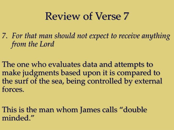 Review of Verse 7
