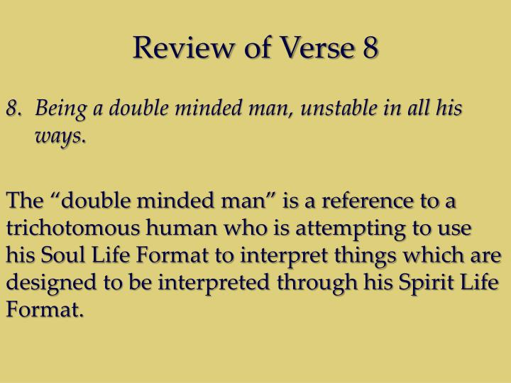 Review of Verse 8