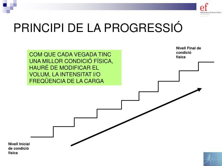 PRINCIPI DE LA PROGRESSIÓ