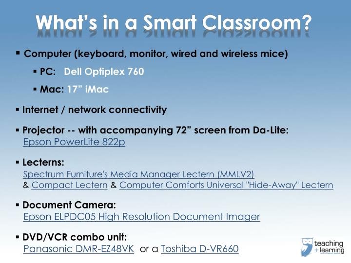 What's in a Smart Classroom?