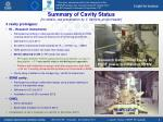 summary of cavity status for details see presentation by v serri re project leader