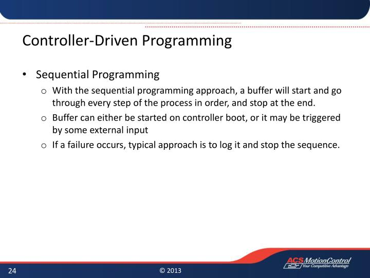 Controller-Driven Programming