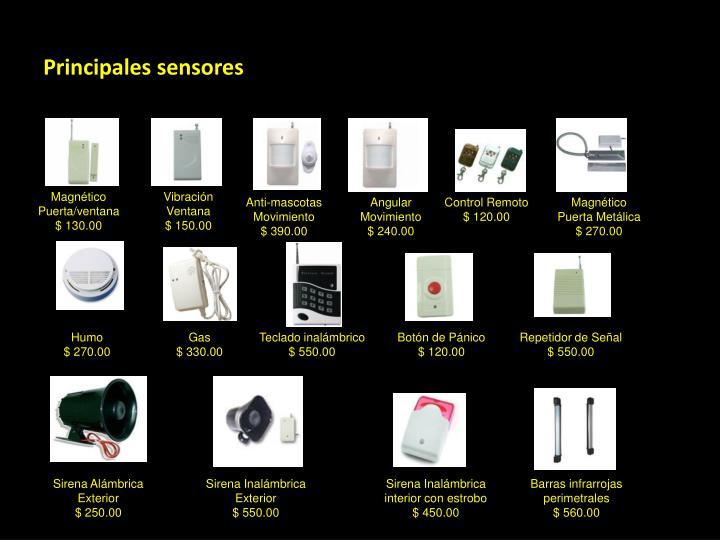 Principales sensores