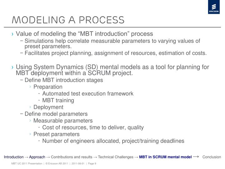 Modeling a process