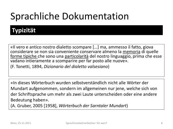 Sprachliche Dokumentation