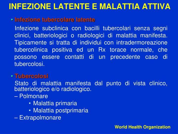 Infezione tubercolare latente