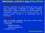 infezione latente e malattia attiva